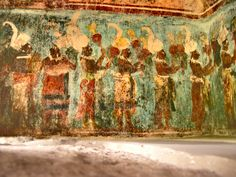 frescos de bonampak,mexico | Description Bonampak painting2.jpg