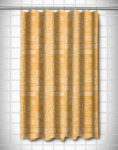 Yellow beach and sea word shower curtain: https://www.obxtradingroup.com/shower-curtains/ And many other designs of coastal theme shower curtains!