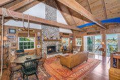 Lake Arrowhead Cabin For Sale Stone Fireplace Loft 3 bedroom