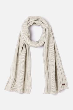 Lacoste Men's Wool Blend Cable Knit Scarf.  No pattern