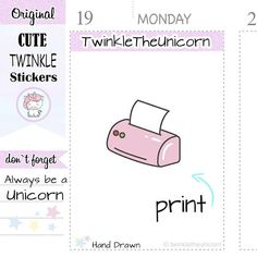 A285 | printer stickers,girl boss planner stickers,kawaii #papergoods #tag @EtsyMktgTool http://etsy.me/2yoA2jA