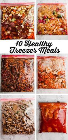 Freezer Friendly Meals, Slow Cooker Freezer Meals, Make Ahead Freezer Meals, Freezer Cooking, Make Ahead Healthy Meals, Clean Freezer Meals, Easy Healthy Crockpot Meals, Frugal Meals, Chicken Freezer Meals