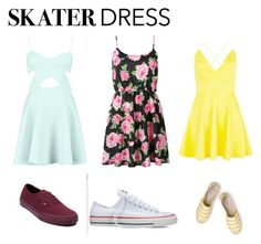 """Skater dress"" by adri-98 on Polyvore featuring AX Paris, Boden, Converse and Vans"