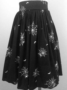 She's Wicked! Spider Web Skirt in Black