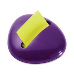 bright purple Post-It dispenser