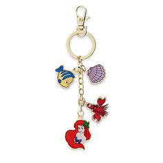 Inspired by The Little Mermaid, this keychain by Danielle Nicole features a treasure of deep sea charms. Disney Keychain, Cute Keychain, Unicorn Wings, Disney Inspired Fashion, Disney Fashion, Disney Handbags, Disney Charms, Cute Backpacks, Disney Addict
