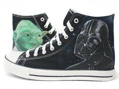 Zapatillas Yoda vs Darth Vader  by www.pimpamcreations.com