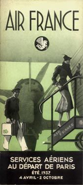 Air France Timetable Paris edition, 1937
