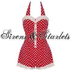 Banned, 1950's Rockabilly Playsuit - £32.99