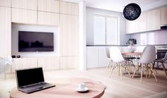 Aranżacje wnętrz. Salon z aneksem kuchennym dla pięciu osób; architekt radzi, projekty, salon z aneksem, kuchnia w pokoju, aranzacje wnętrz, mały salon, urządzanie salonu, urzadzanie wnętrz, projekt, projekty wnętrz, aranżacje wnętrz, urządzanie wnętrz Projekty i Wnętrza - Serwis DOM i NIERUCHOMOŚCI
