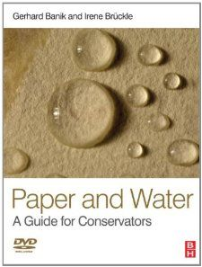 Paper and Water: A Guide for Conservators (Routledge Series in Conservation and Museology) by Gerhard Banik (Author), Irene Bruckle (Author). That is the first compendium for conservation professionals concerned with the preservation of paper artifacts in archives, libraries and fantastic art museums around the world. The worldwide group of expert authors explain the principal interactions between paper and water, a subject of major importance for each conservator working