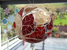 Mosaik - Mosaikkugel rot - ein Designerstück von Graf-77 bei DaWanda