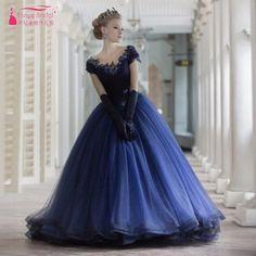 Marineblau Pailletten Prom Kleider Ballkleid Pailletten Bling Bling Plus Größe Junge Dame Formales Abend-abschlussball-kleider Roten Kleid heißer //Price: $US $169.99 & FREE Shipping // #abendkleider