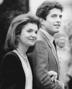 Mother and son, Jacqueline Bouvier Kennedy and John Kennedy Jr.