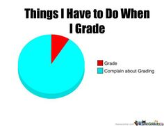 When I grade which is ALL THE TIME!!!