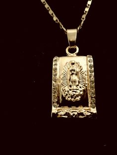 Women Gold Plated Jesus Necklace Pendant Fashion Trendy Religious Jewelry SALE  #Oumeily #DogTag