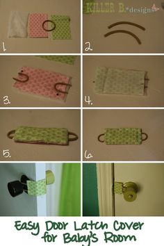 DIY Door Latch cover tutorial