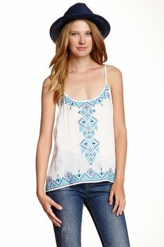 Embroidered Hi-Lo Tank by Love Stitch on @HauteLook