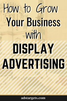 In this post, we share the best tactics to grow your business using display advertising. #freeadvertisingideas #adsideas #bussiness #directmarketing #advertisingsales #marketingads Direct Marketing, Online Marketing, Digital Marketing, Advertising Sales, Display Advertising, Youtube Advertising, Google Ads, Growing Your Business, Online Business