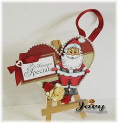 Standing Santa and sentiments from www.digitaldelightsbyloubyloo.com