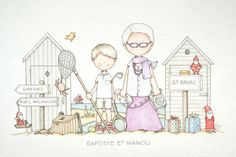 by Celine Bonnaud Celine, Illustration Mignonne, Cute Illustration, Cute Pictures To Draw, Picture Sharing, Cute Clipart, Prayer Cards, China Painting, Baby Art