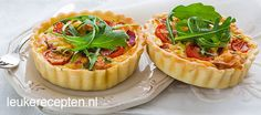 mini quiche met spek tomaten Sandwiches For Lunch, Sandwich Recipes, Quiche Lorraine, Wine And Beer, Afternoon Tea, Tapas, Foodies, Good Food, Yummy Food