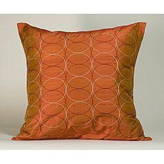 'Olympic' Orange 20x20-inch Decorative Pillow