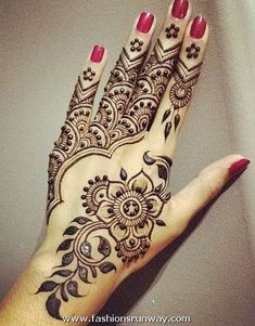 arabic henna hand patterns - Google Search