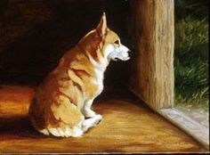 Corgi art~Reminds me of our old dog Rio <3