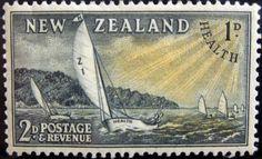 New Zealand (19) 1953 Health green-yellow
