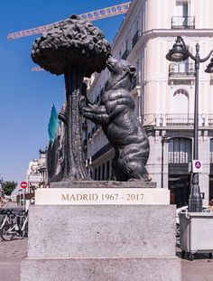 places in madrid puerta del sol statue of bear and strawberry tree