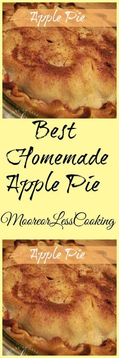 Apple Pie - Moore or Less Cooking Fall Desserts, Just Desserts, Delicious Desserts, Yummy Food, Apple Desserts, Best Dessert Recipes, Apple Recipes, Cupcake Recipes, Best Apple Pie