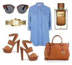 """#wanted"" by nadine-salkovic ❤ liked on Polyvore featuring Topshop, Finlay & Co., Steve Madden, MICHAEL Michael Kors, Tory Burch and Dolce&Gabbana"