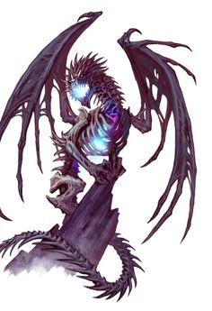 Female Adult Red Dragon Ravener -  Marrowgarth - Pathfinder PFRPG DND D&D 3.5 5th ed d20 fantasy