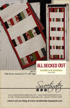 All Decked Out Table Runner Pattern. $8.00, via Etsy.