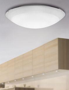 Lampa oprawa sufitowa plafon Eglo Albedo 1x60W E27 biała 86081 #lampa #lampadokuchni #lampasufitowa #plafon #eglo #egloalbedo #e27