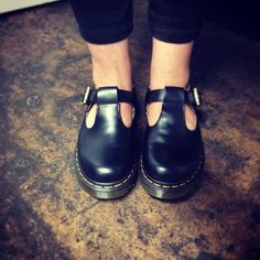 The Dr. Martens Polly Mary-Jane Shoe. My childhood school shoes!☺️❤️