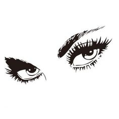 Sexy Beautiful Eyes Wall Sticker Decal Art Home Decor DIY High Quality