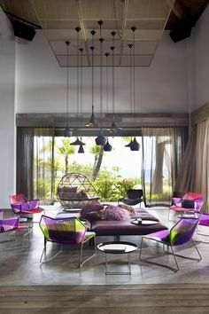 W Hotels' first property in the Caribbean. The dialogue between the interior design and the natural setting creates an eclectic combination. It extends from the surrounding landscape to create a sense of contrast with the interior furnishings.