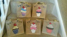 Cake anyone? - small jute bag