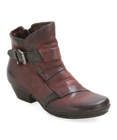 Another great find on #zulily! Red Ezra Leather Bootie #zulilyfinds
