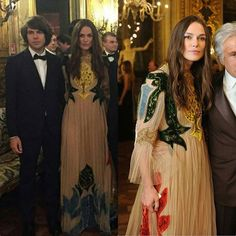 Keira Knightley wearing a Valentino gown to a dinner hosted by Giancarlo Giammetti celebrating Valentino la Traviata. #keiraknightley #valentino #valentinolatraviata #dinner #giancarlogiammetti #jamesrighton #klaxons #opera #hollywood #fashion #dress #actress #photo #follow4follow #like4follow
