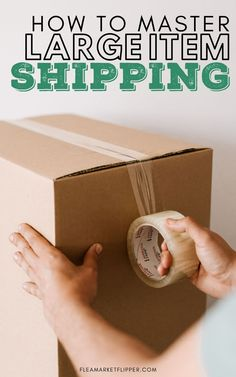 How To Master Large Item Shipping | Shipping Tips - Do you love repurposing furniture, but wish you could make more money for the time you spend on a furniture flipping project? Click to learn how to get started using eBay and shipping those large items for profit. | Flea Market Flipper | Flipping Furniture For Profit | Flipping Furniture On eBay | Ways To Make More Money #flipping #thrifting #shipping #reselling #ebay #makemoney #workfromhome