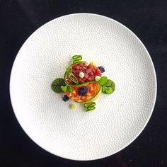 Tuna and Salmon tartare Food Design, Salmon Tartare, Food Decoration, Culinary Arts, Creative Food, Food Presentation, Food Plating, Gourmet Recipes, Gourmet Desserts