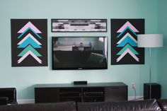 Leather Wrapped Canvas DIY | The Band Wife