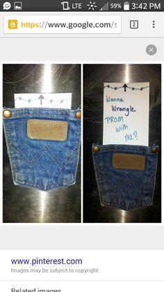 Great way to ask that sweet country guy/gal to prom or anything for that matter! Great way to ask th Country Prom, Cute N Country, Country Men, Cute Prom Proposals, Homecoming Proposal, Homecoming Ideas, High School Dance, School Dances, Prom Invites