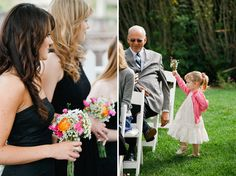flower girl. DIY backyard wedding