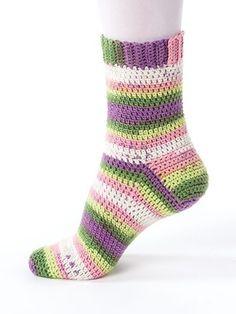 Crochet Sock Patterns: New Methods for Crochet. Easy Crochet Socks, Crochet Socks Pattern, Crochet Shoes, Crochet Slippers, Crochet Clothes, Crochet Stitches, Crochet Baby, Knit Crochet, Crochet Leg Warmers