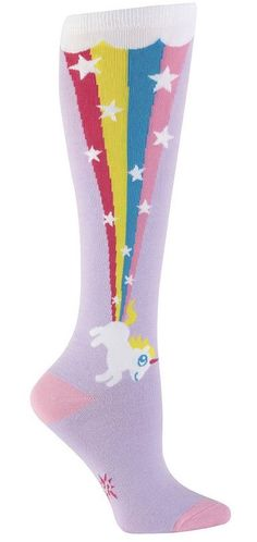 Fun Unicorn Socks that would be a great addition to my wardrobe 🦄🌈