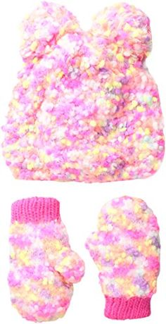 The Children's Place Girls' Winter Faux Fur Set Mitten Gloves, Mittens, Girls Dress Up, Baby Girl Hats, Crochet Necklace, Girl Outfits, Knitting, Toddler Girls, Note
